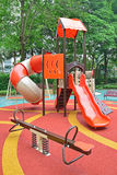 Colorful playground structure with plenty of Games for kids Stock Images