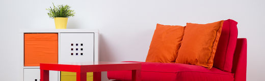Colorful recreation space in room Stock Image