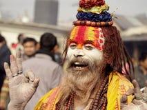 Colorful Sadhu in Shivaratri Festival Royalty Free Stock Image