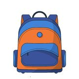 Colorful school bag Royalty Free Stock Photography