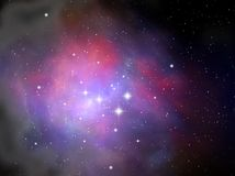 Colorful space nebula Stock Image