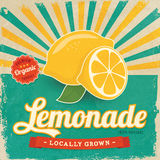 Colorful vintage Lemonade label Royalty Free Stock Image
