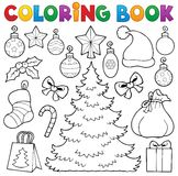 Coloring book Christmas decor 1 Stock Images