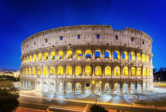 The Colosseum at night, Rome Royalty Free Stock Images