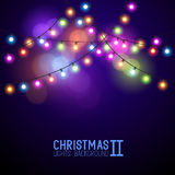 Colourful Glowing Christmas Lights Stock Photo