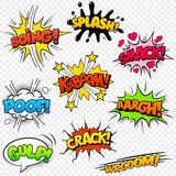Comic Sound Effects Stock Image
