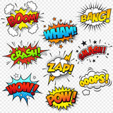 Comic Sound Effects Royalty Free Stock Photo