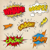 Comic Sound Effects with Grunged Style Set2 Royalty Free Stock Photo