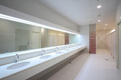 Commercial bathroom Royalty Free Stock Photography