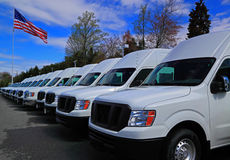 Commercial Vans Stock Photo