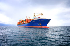 Commercial container ship Royalty Free Stock Image
