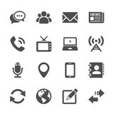 Communication device icon set 2, vector eps10 Stock Photos