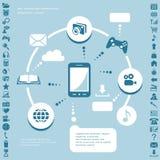 Communication infographic elements Royalty Free Stock Photo