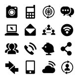 Communication and Internet Icons Set. Vector Royalty Free Stock Photo