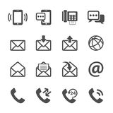 Communication of phone and email icon set, vector eps10 Stock Image
