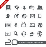Communications Icon Set // Basics Royalty Free Stock Photos