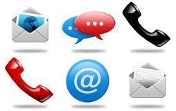 Communications icons 01 Royalty Free Stock Image