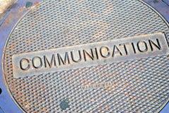 Communications Manhole Stock Image