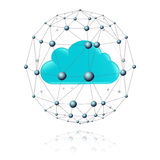 Communications sector and the cloud Royalty Free Stock Image