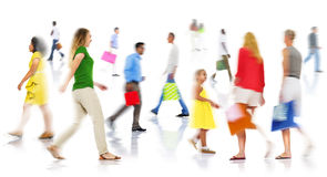 Community Ethnicity Casual People Shopping Spending Concept Stock Image
