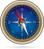 Compass with windrose Stock Image