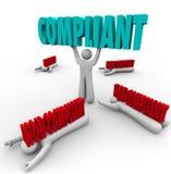 Compliant Vs Non-Compliance One Person Follows Rules Royalty Free Stock Photos