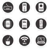 Computer hardware icon set Stock Image