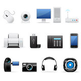 Computers and electronics icons Stock Photos