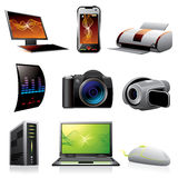 Computers and electronics icons Stock Images