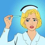 Conceito da banda desenhada da enfermeira Imagens de Stock