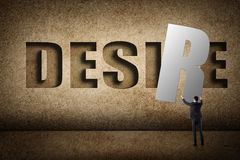 Concept of desire Royalty Free Stock Images