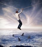 Concept of risk in business Stock Photos