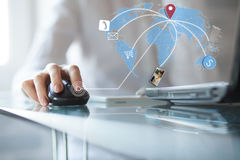 Concept of using wireless technology Stock Photos