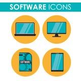 Conception d'icônes de logiciel Photo libre de droits