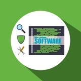 Conception d'icônes de logiciel Images libres de droits