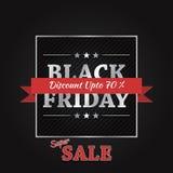 Conception de bannière de vecteur de vente de Black Friday Photo stock