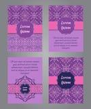 Conception de brochure dans le style d'ornamental de vintage Photo stock