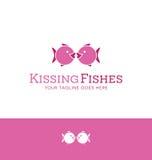 Conception de logo des baisers iconiques de 2 poissons Photos libres de droits