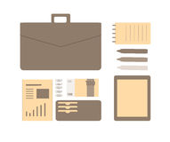 Conceptual flat illustration of a business person. Royalty Free Stock Image
