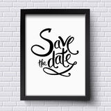 Conceptual Save the Date Texts on a Frame Royalty Free Stock Photo
