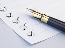 Concetto della lista di controllo Immagini Stock Libere da Diritti