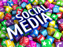 Concetto sociale della rete di media Fotografie Stock Libere da Diritti