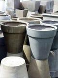 Concrete Planter Pots Royalty Free Stock Image