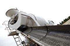 Concrete truck and chute  Stock Photo