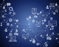 Conexão a Internet da tecnologia Imagens de Stock Royalty Free