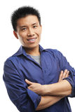 Confidence Asian young man Royalty Free Stock Images