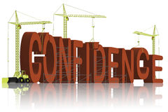 Confidence building be self confident belief Royalty Free Stock Photo