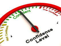 Confidence level meter Royalty Free Stock Photos