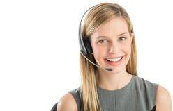Confident Customer Service Representative Wearing Headset Stock Photography