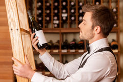 Confident sommelier. Stock Photography